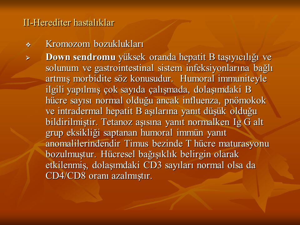 II-Herediter hastalıklar
