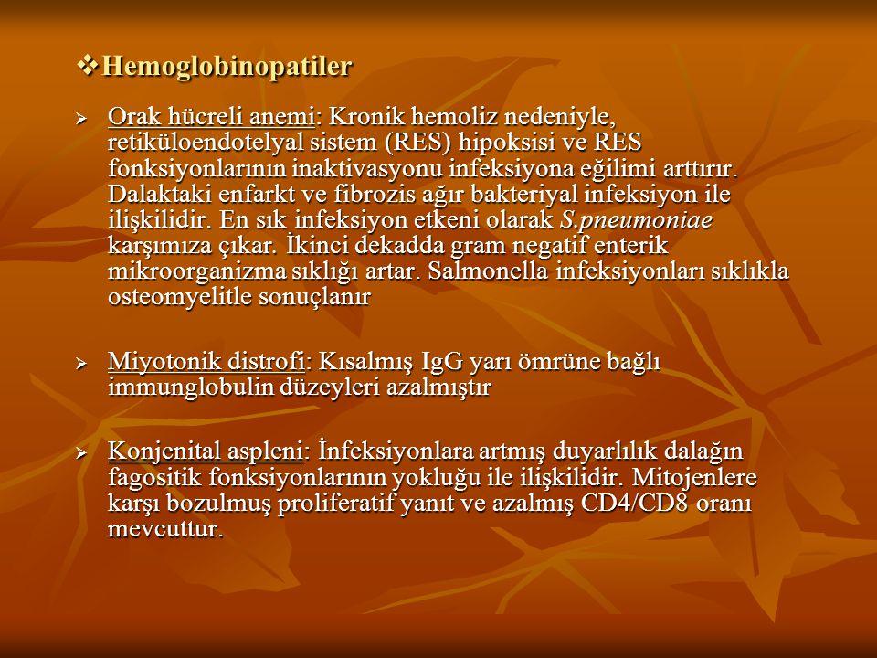 Hemoglobinopatiler