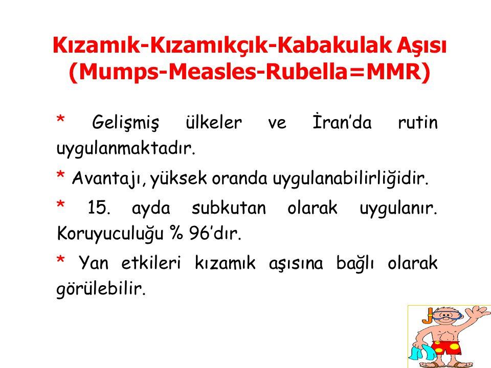 Kızamık-Kızamıkçık-Kabakulak Aşısı (Mumps-Measles-Rubella=MMR)