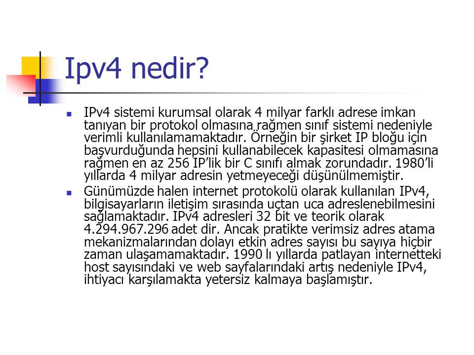 Ipv4 nedir