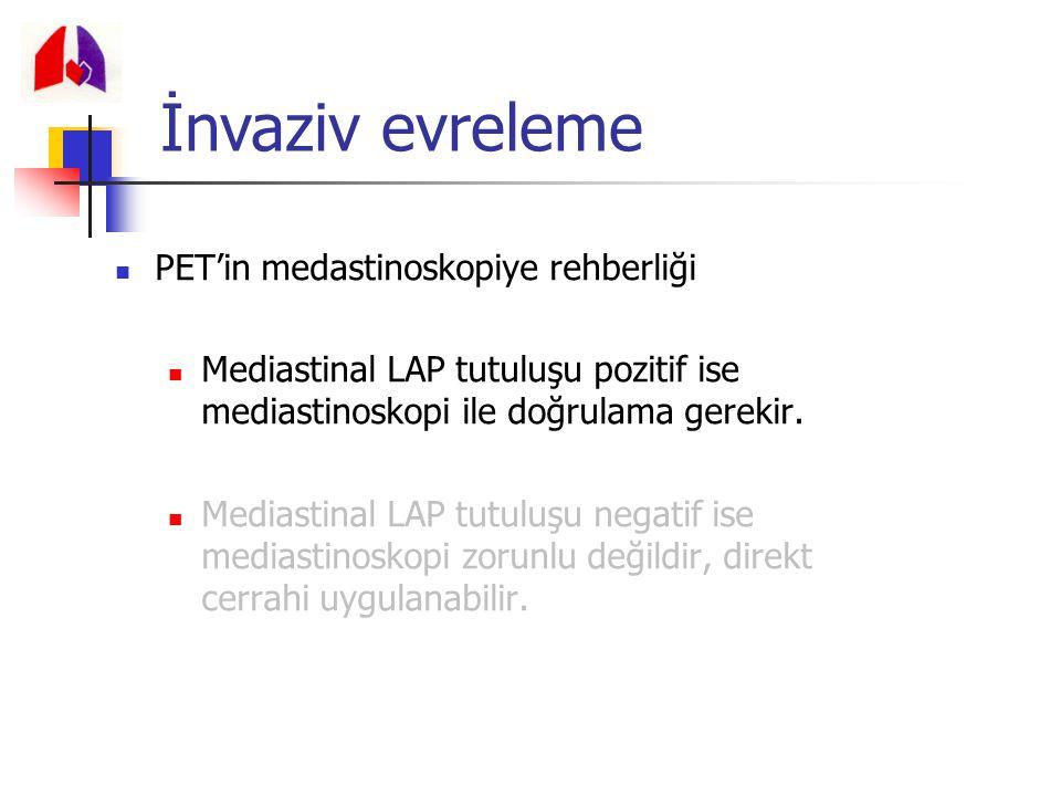 İnvaziv evreleme PET'in medastinoskopiye rehberliği