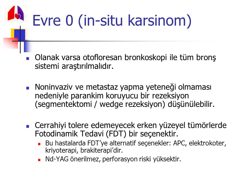 Evre 0 (in-situ karsinom)