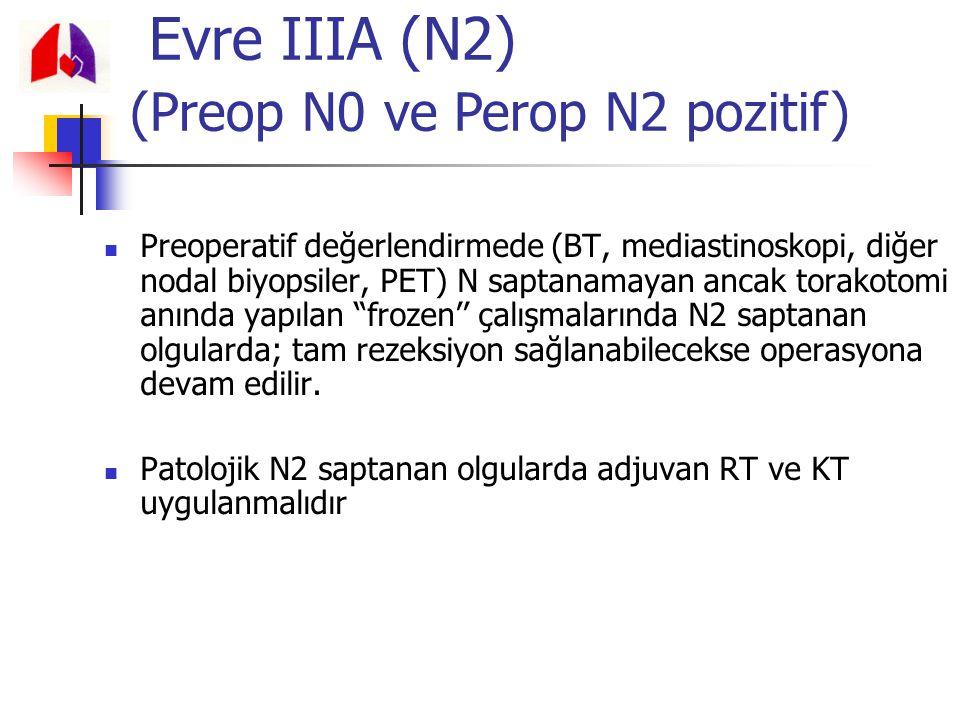 Evre IIIA (N2) (Preop N0 ve Perop N2 pozitif)