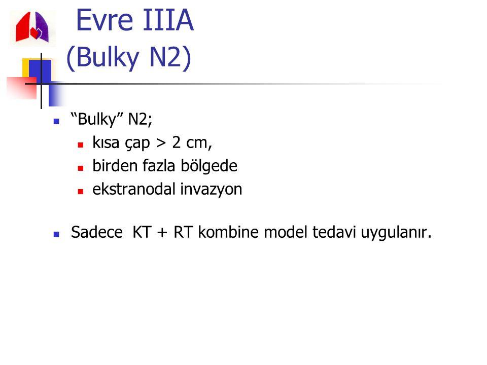 Evre IIIA (Bulky N2) Bulky N2; kısa çap > 2 cm,