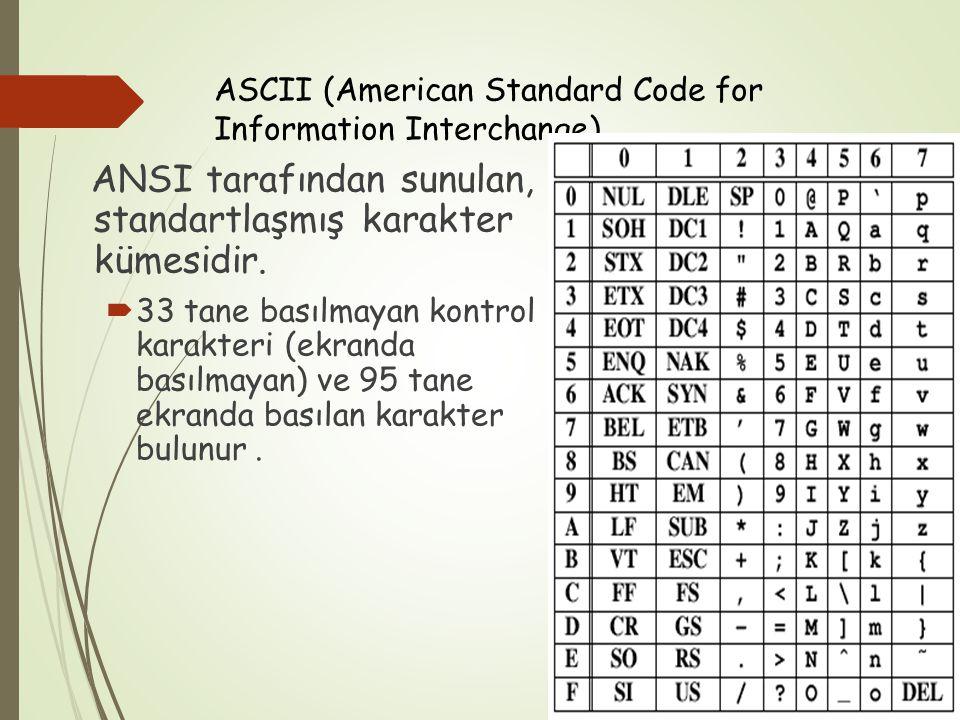 ASCII (American Standard Code for Information Interchange)