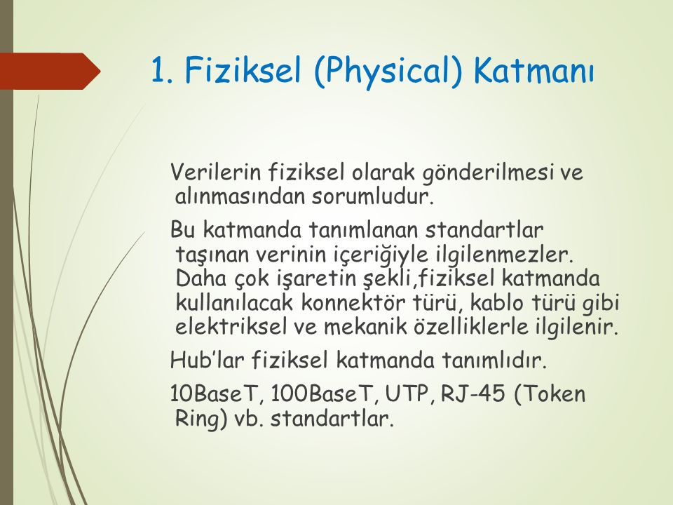 1. Fiziksel (Physical) Katmanı