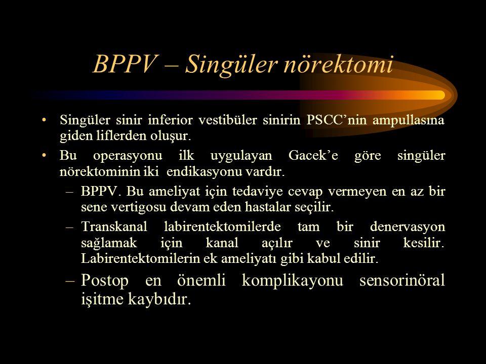 BPPV – Singüler nörektomi