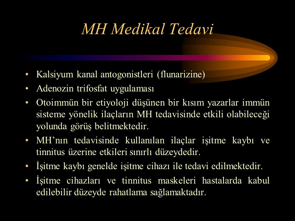 MH Medikal Tedavi Kalsiyum kanal antogonistleri (flunarizine)