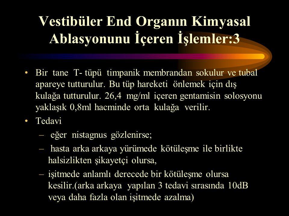Vestibüler End Organın Kimyasal Ablasyonunu İçeren İşlemler:3