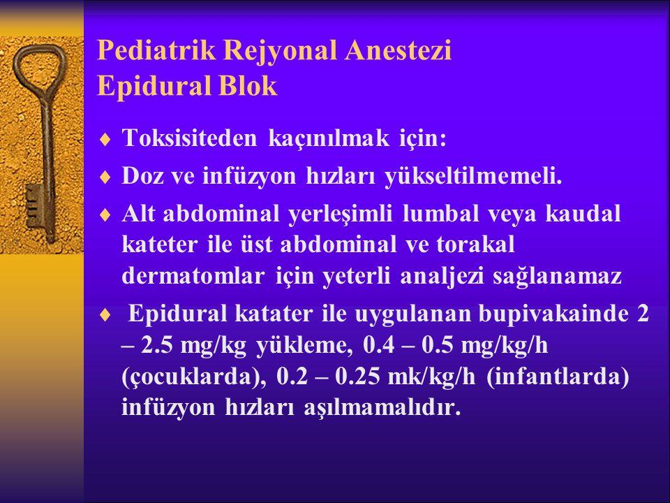 Pediatrik Rejyonal Anestezi Epidural Blok