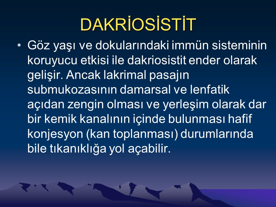 DAKRİOSİSTİT