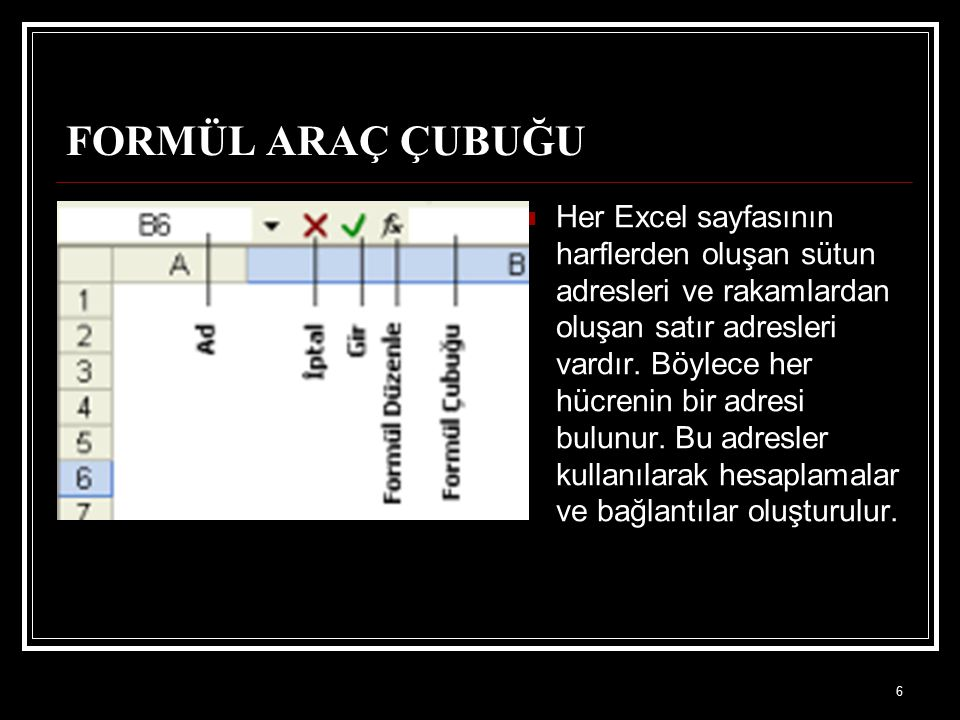 FORMÜL ARAÇ ÇUBUĞU