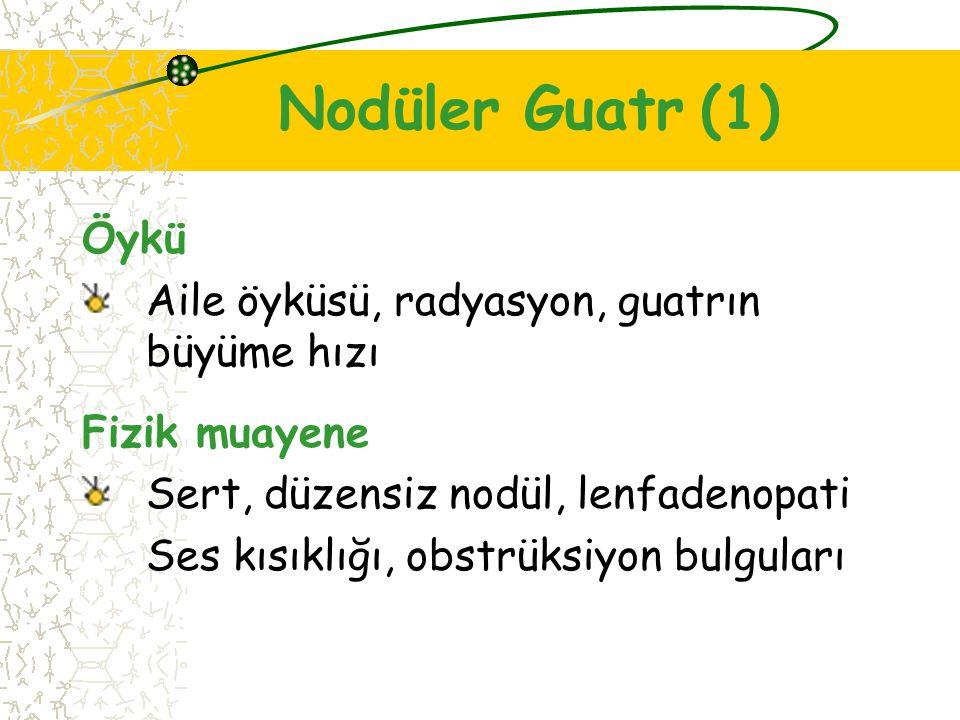 Nodüler Guatr (1) Öykü Aile öyküsü, radyasyon, guatrın büyüme hızı