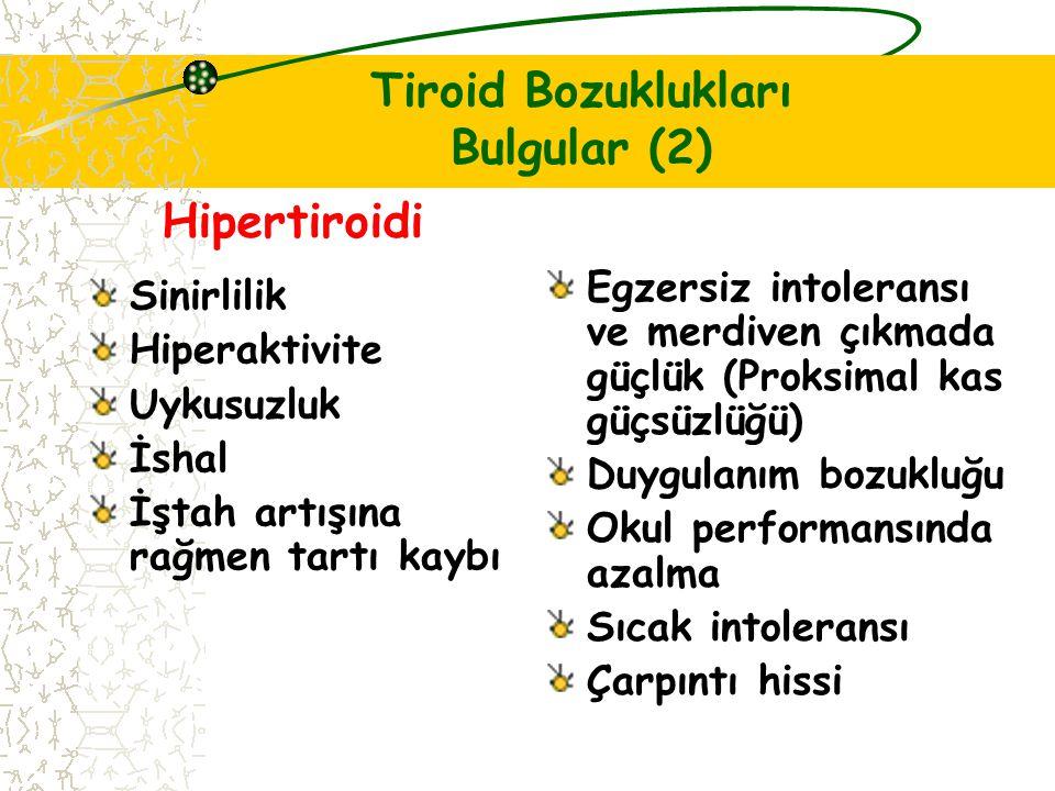 Tiroid Bozuklukları Bulgular (2)
