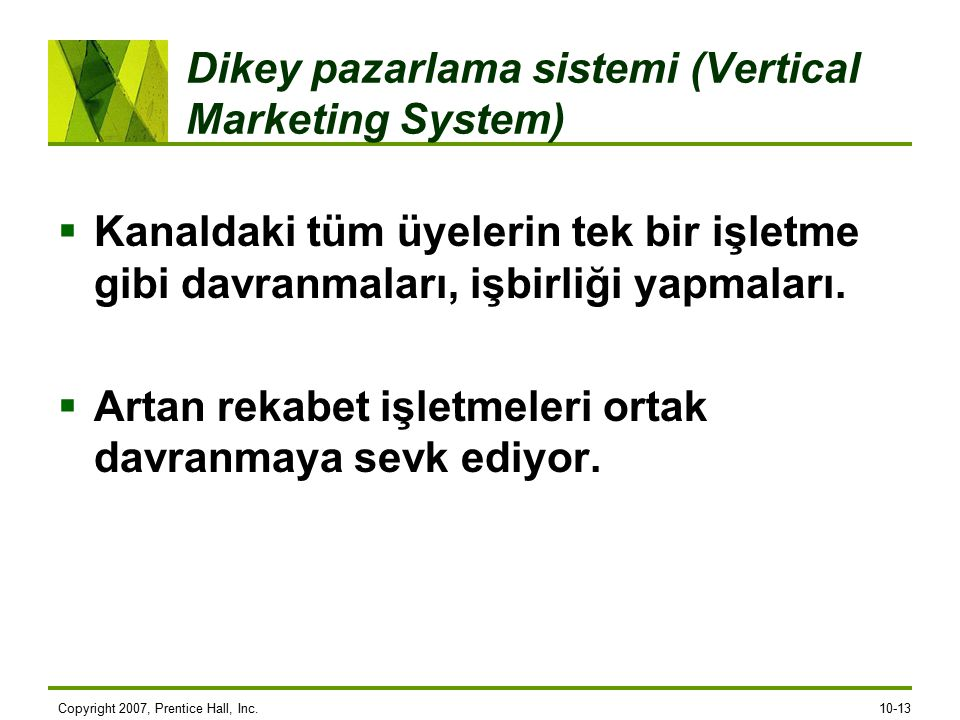 Dikey pazarlama sistemi (Vertical Marketing System)