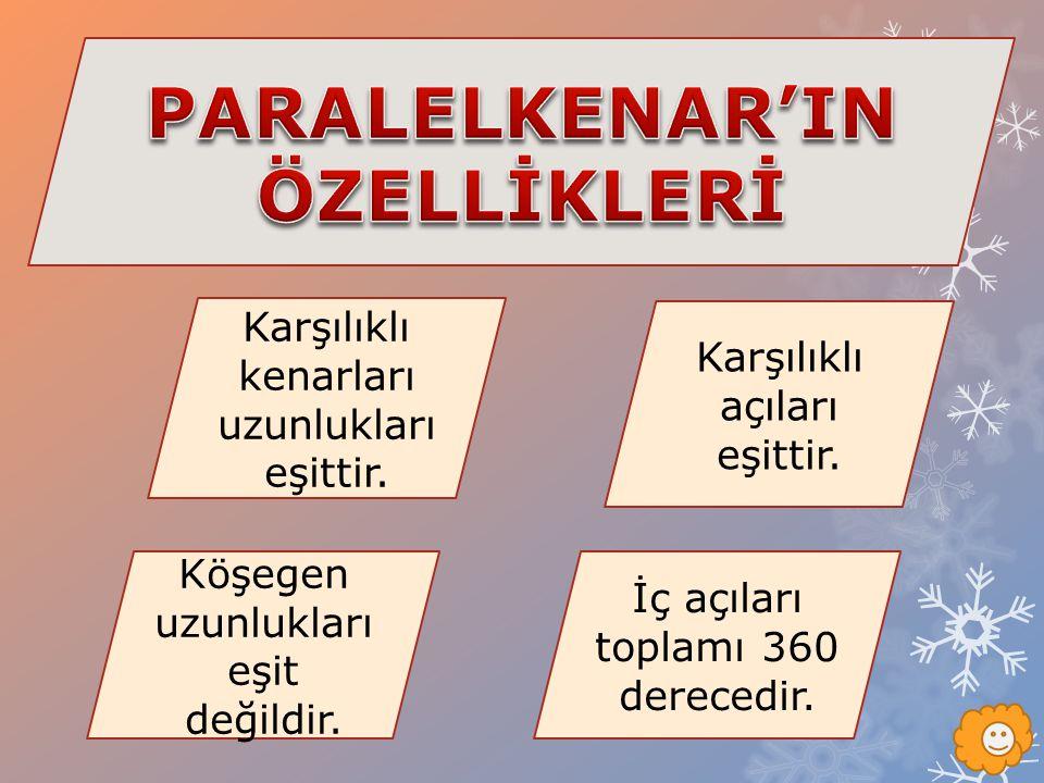 PARALELKENAR'IN ÖZELLİKLERİ