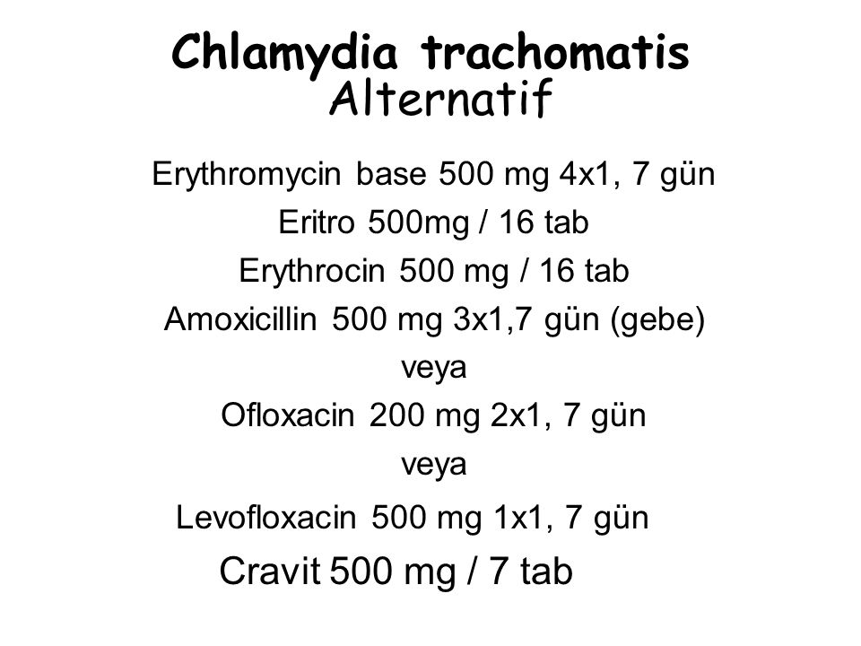 Chlamydia trachomatis Alternatif