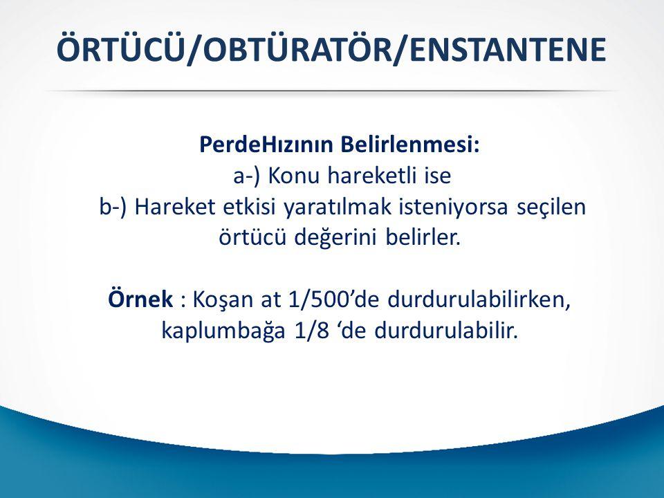 ÖRTÜCÜ/OBTÜRATÖR/ENSTANTENE