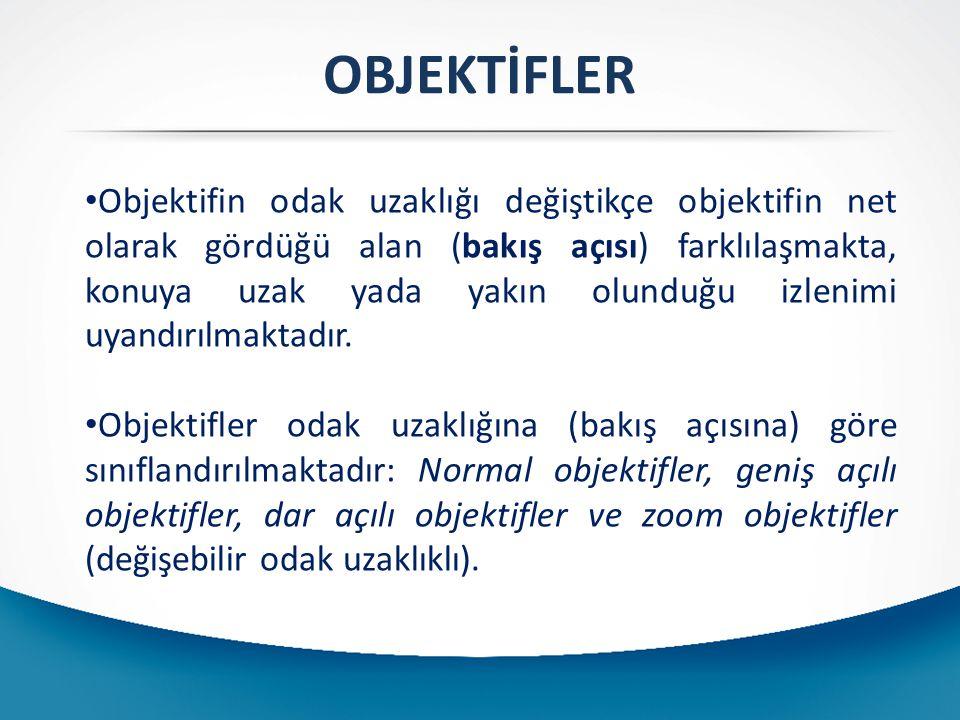 OBJEKTİFLER