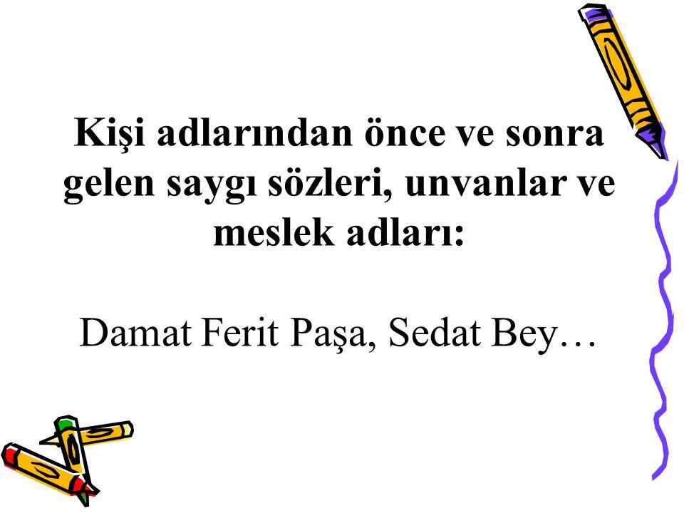 Damat Ferit Paşa, Sedat Bey…