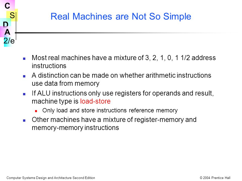 Real Machines are Not So Simple