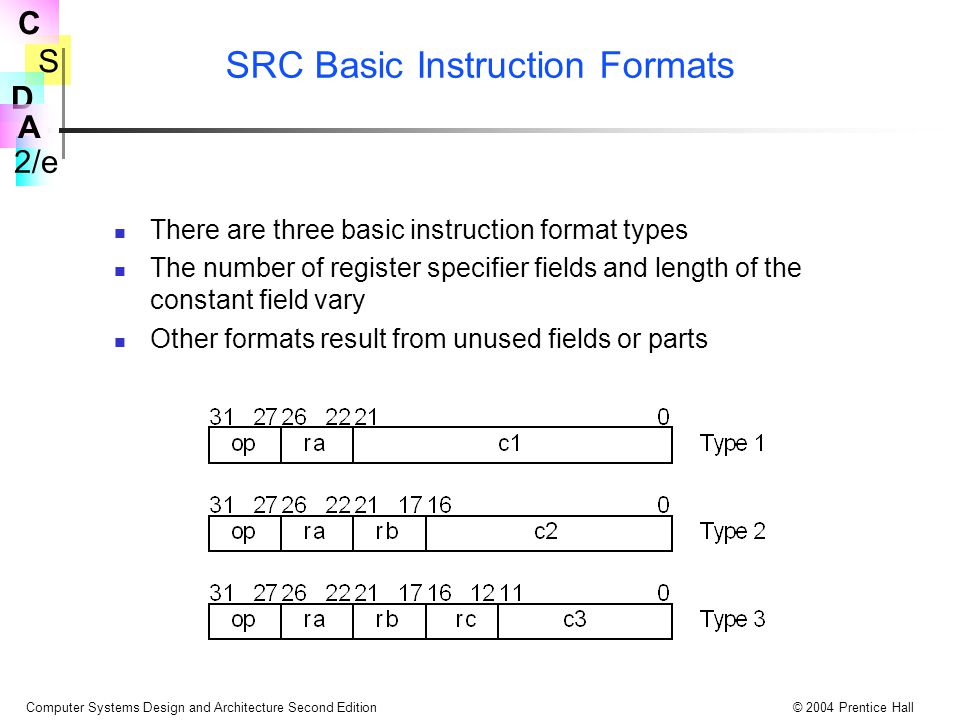 SRC Basic Instruction Formats