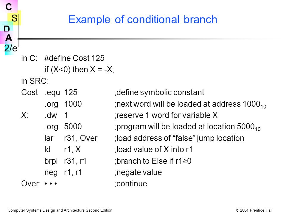 Example of conditional branch