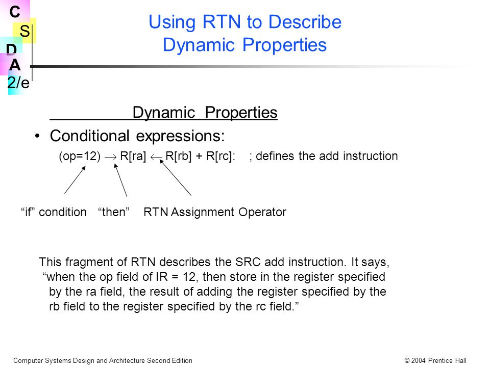 Using RTN to Describe Dynamic Properties