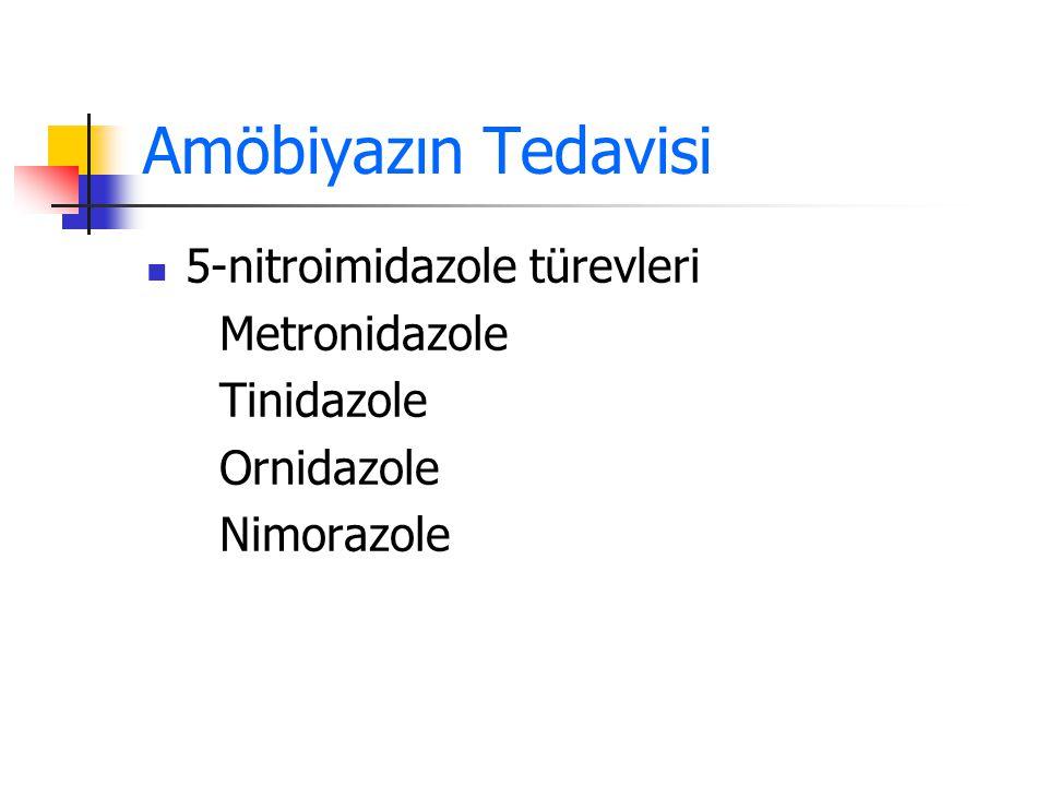 Amöbiyazın Tedavisi 5-nitroimidazole türevleri Metronidazole
