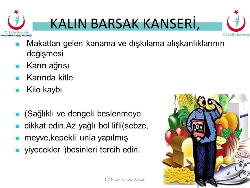KALIN BARSAK KANSERİ, Makattan gelen kanama ve dışkılama alışkanlıklarının değişmesi.