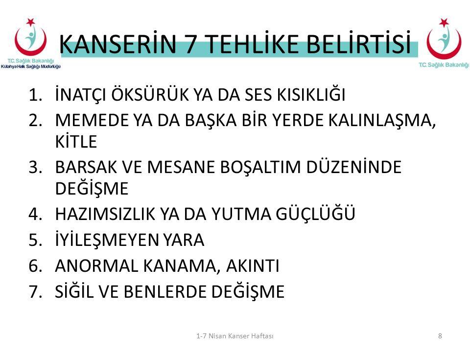 KANSERİN 7 TEHLİKE BELİRTİSİ
