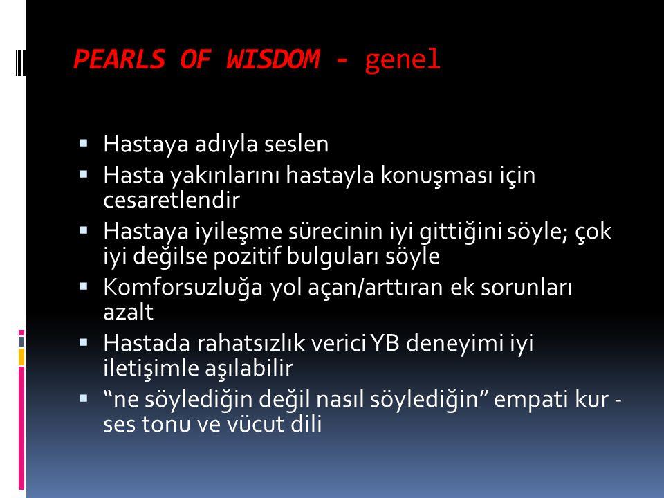 PEARLS OF WISDOM - genel