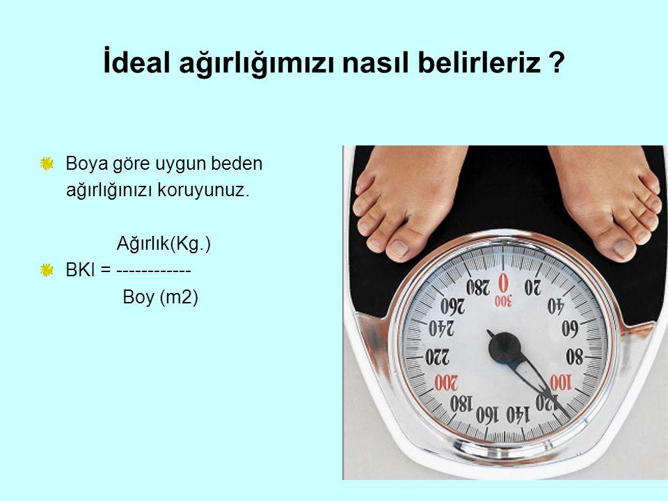 İdeal ağırlığımızı nasıl belirleriz