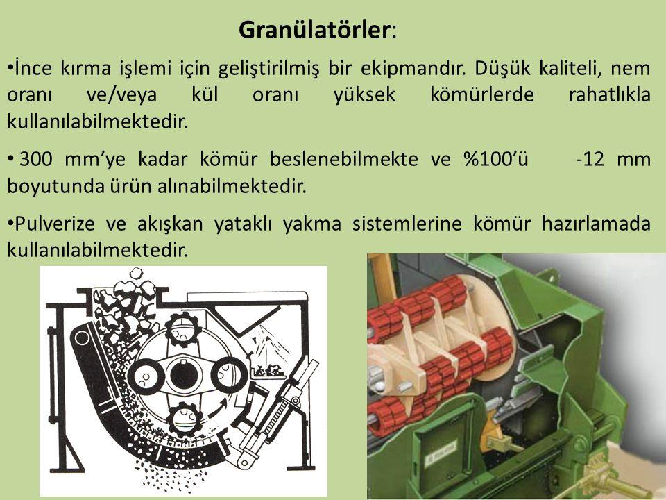 Granülatörler: