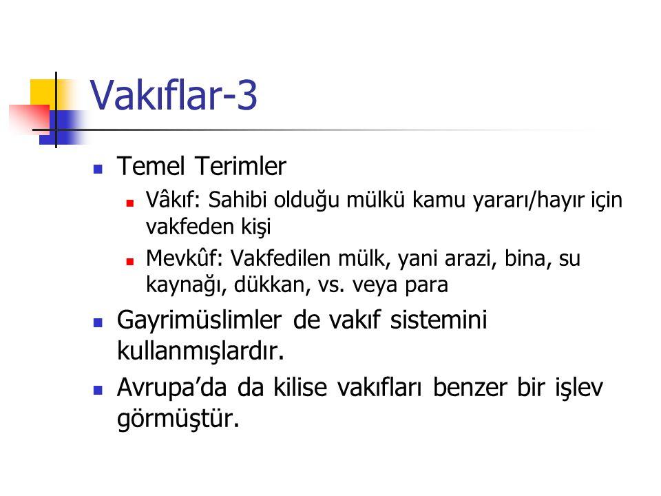 Vakıflar-3 Temel Terimler