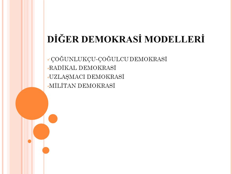 DİĞER DEMOKRASİ MODELLERİ