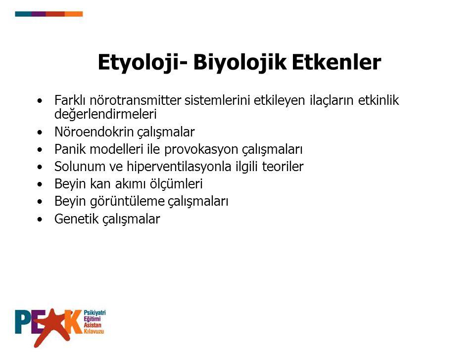 Etyoloji- Biyolojik Etkenler