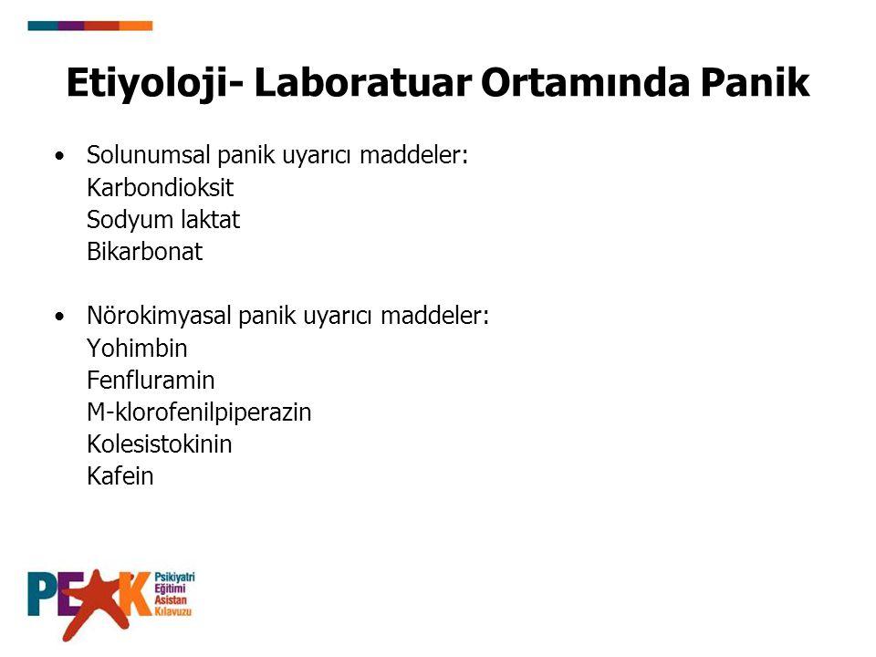 Etiyoloji- Laboratuar Ortamında Panik