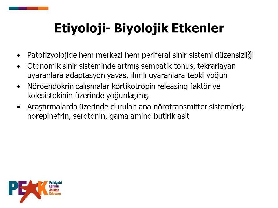 Etiyoloji- Biyolojik Etkenler