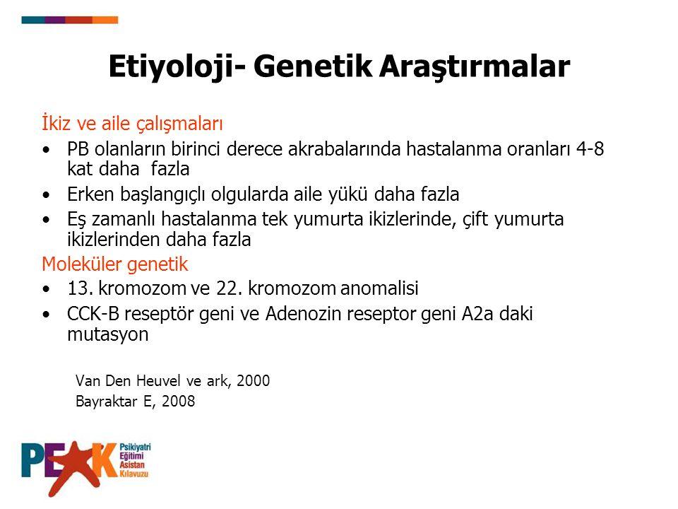 Etiyoloji- Genetik Araştırmalar