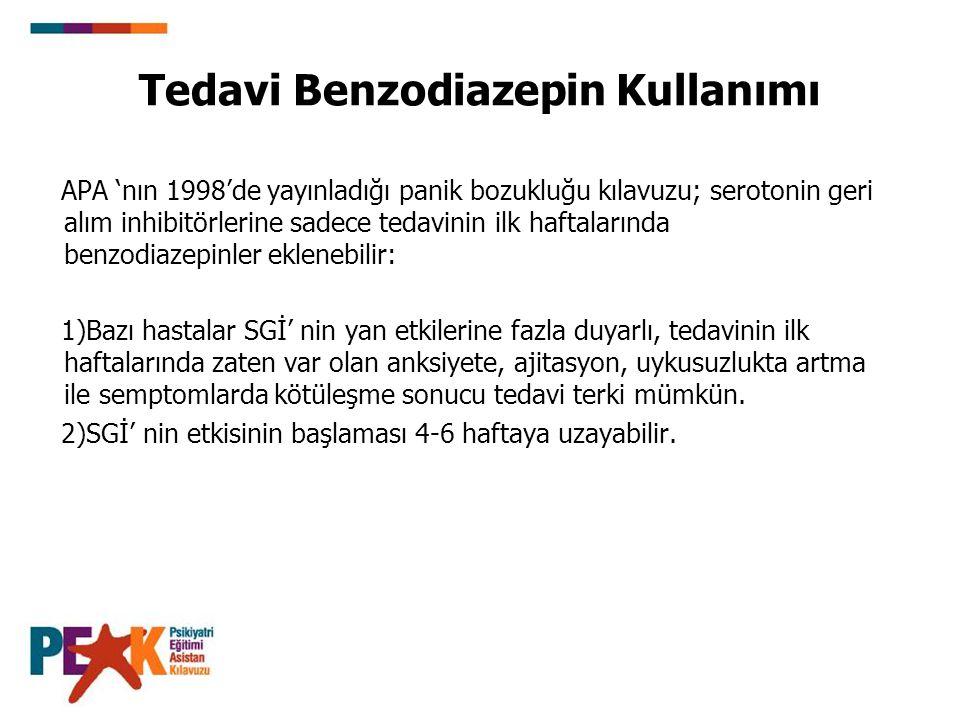 Tedavi Benzodiazepin Kullanımı