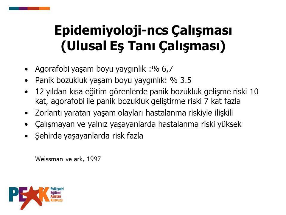 Epidemiyoloji-ncs Çalışması (Ulusal Eş Tanı Çalışması)
