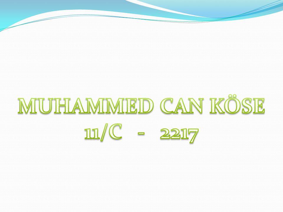 MUHAMMED CAN KÖSE 11/C - 2217