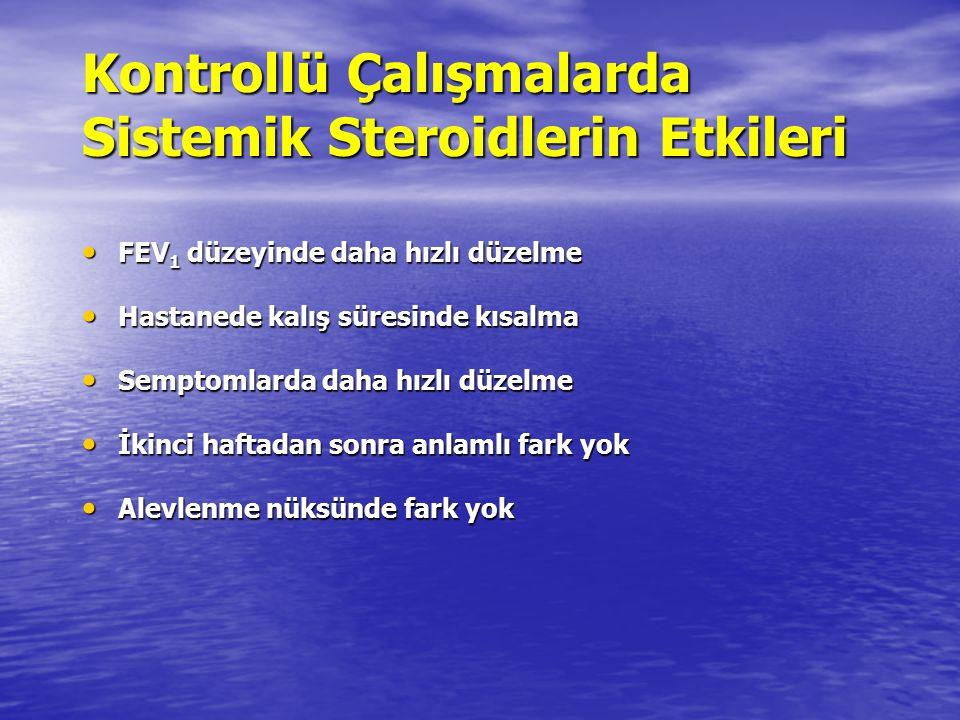 Kontrollü Çalışmalarda Sistemik Steroidlerin Etkileri