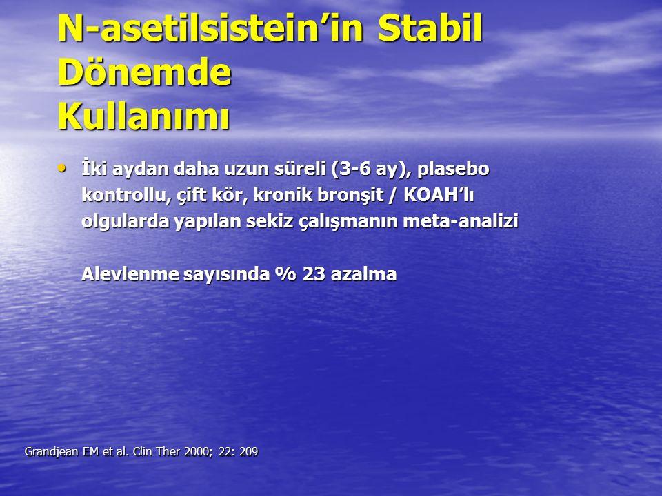 N-asetilsistein'in Stabil Dönemde Kullanımı
