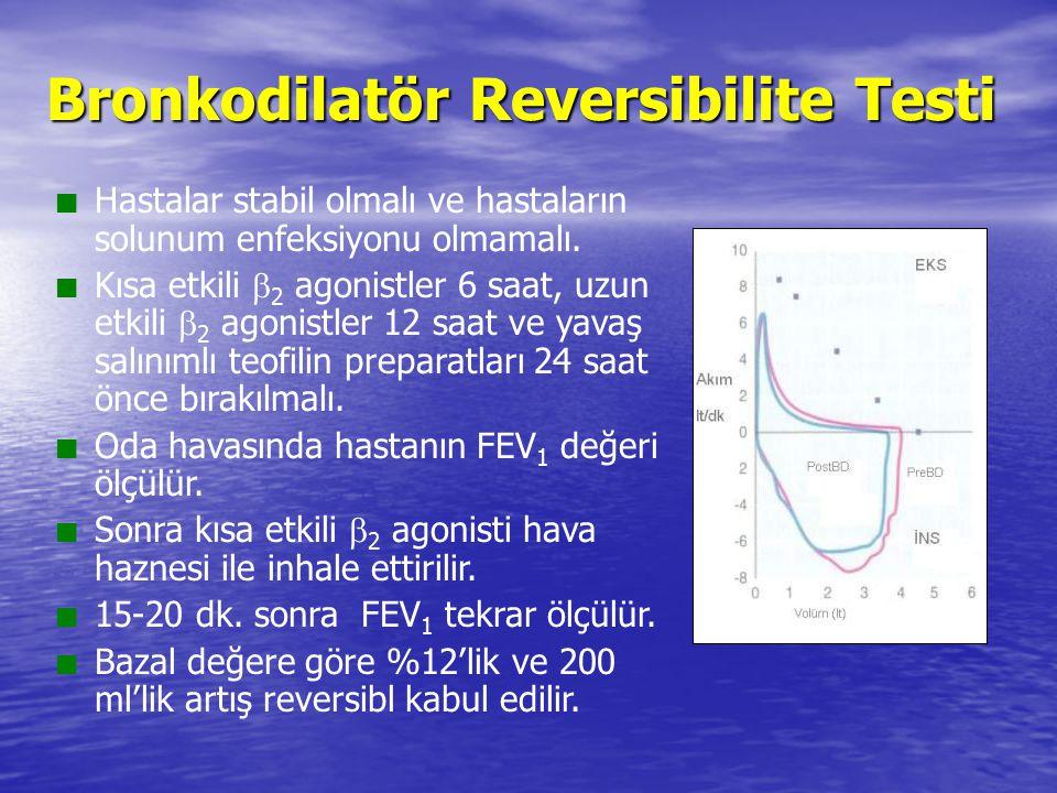 Bronkodilatör Reversibilite Testi