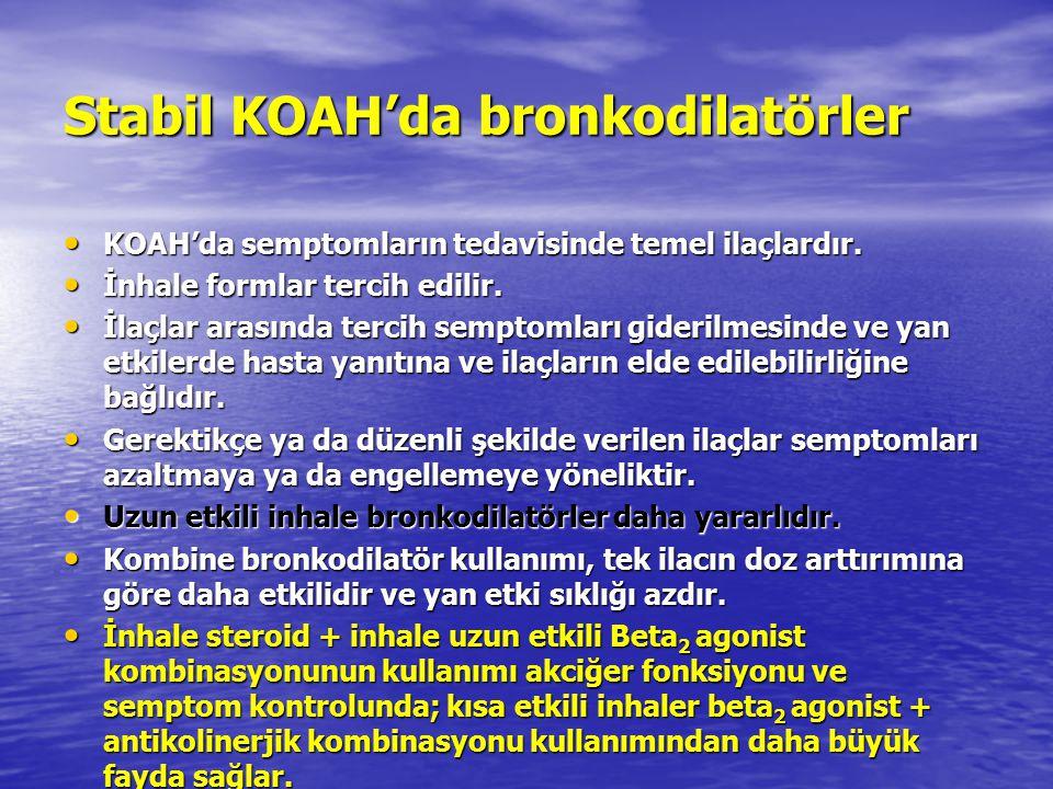 Stabil KOAH'da bronkodilatörler
