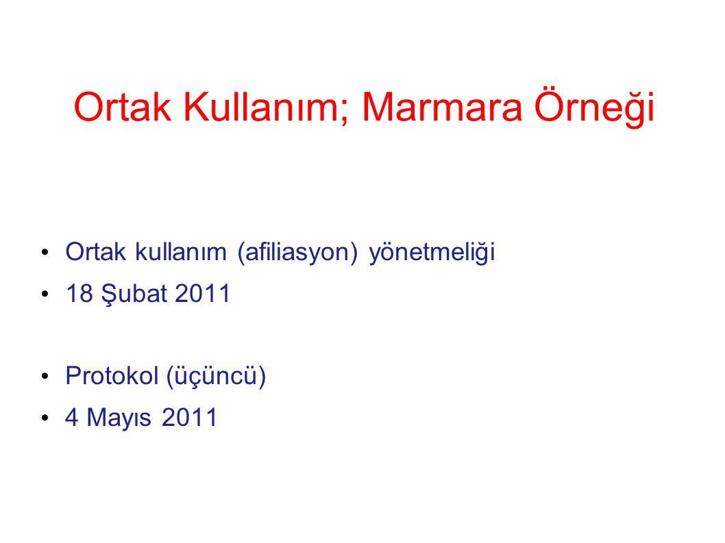 Ortak Kullanım; Marmara Örneği