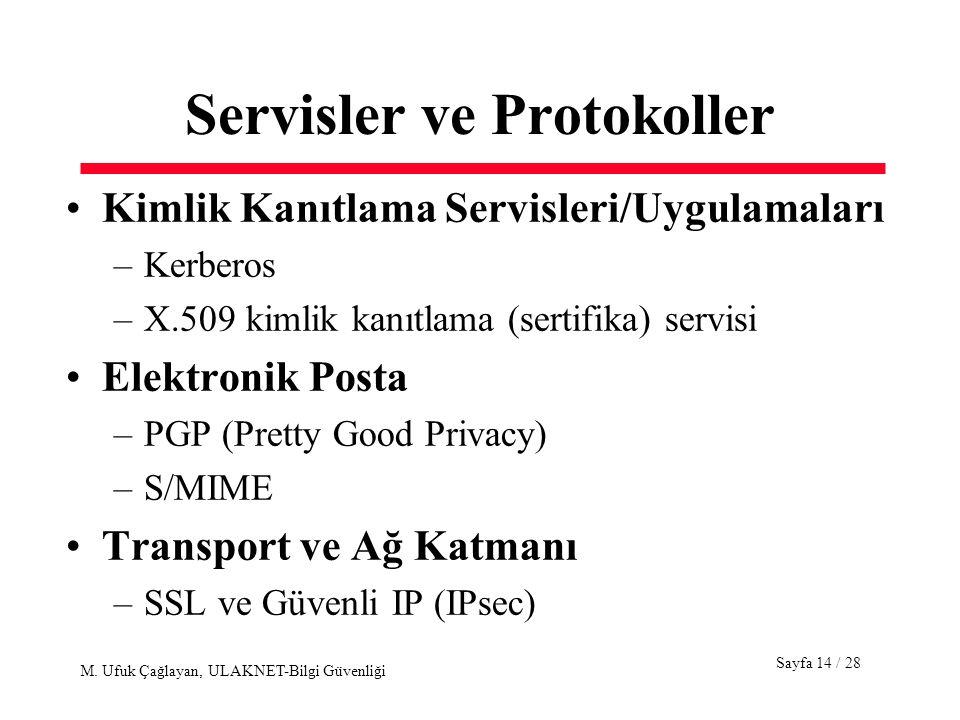 Servisler ve Protokoller
