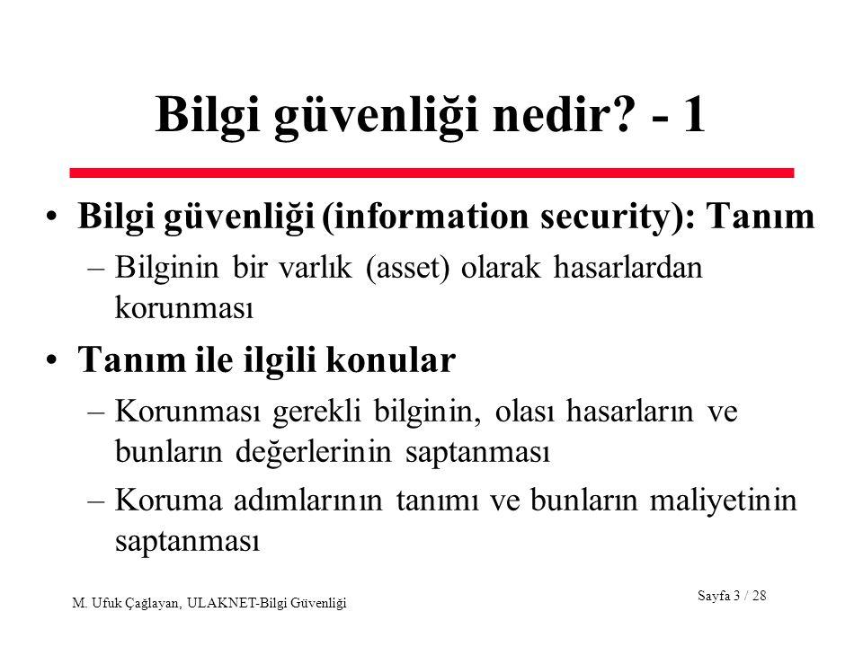 Bilgi güvenliği nedir - 1